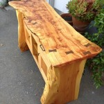 Buffet - Figured Red Oak, Cedar, Teak