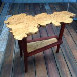 End Table - Chinese Chestnut and Mahogany