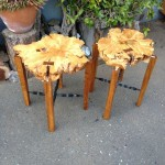 End Tables - Cedar, Teak and Maple