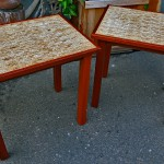 End tables - Kirei (recycled sorghum stalks) Mahogany