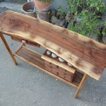 Hall Table-Walnut, Eucalyptus, Bubinga,  Natural Beach Rock (2)