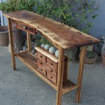 Hall Table-Walnut, Eucalyptus, Bubinga,  Natural Beach Rock (3)