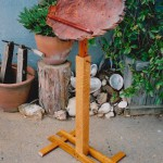 Adjustable Music Stand - Redwood Burl, Bubinga, Mahogany, Oak, Teak
