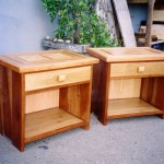 Bedside Tables - Mahogany, Oak