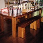 Dining Table and Benches - Walnut