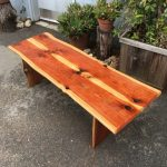 Bench -- Bookmatched Redwood