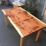Michele's Dining Table - Redwood