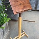 Megan's Music Stand - Walnut, Ash