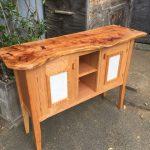 Sarah and Evan's Cabinet -Red Oak, Cedar, Maple