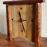 Clock - Figured Koa, Chinese Chestnut